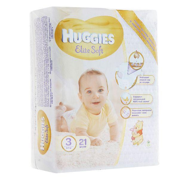 Купить памперсы huggies elite soft 3